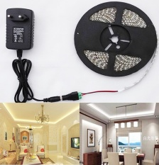 Compare Price 5M 3528 Led Strip Light 300Leds 12V Power Supply Dc Connector Warm White Intl On China