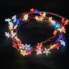 Review 5M 50 Led Battery Operated Copper Wire Fairy Light Stars Multi Color Static Oem On Singapore
