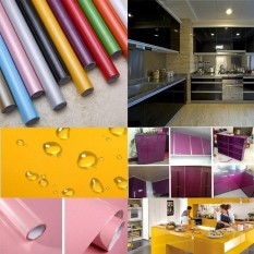 Cheapest 5M Modern Kitchen Cupboard Cabinet Self Adhesive Wallpaper Roll Vinyl Wall Papers Furniture Wall Stickers Pvc Diy Decorative Films Intl