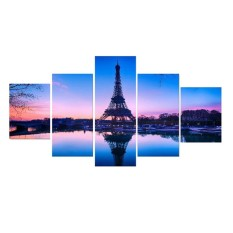 5pcs Combine HD Tower Print Spray Canvas Painting Wall Sticker Picture Home Decor(M) - intl