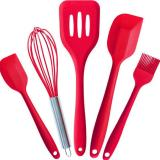 5Pcs Kitchen Utensils Heat Resistant Cookware Silicone Baking Oem Discount