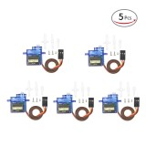 Price Comparisons For 5Pcs Micro Servo Motor Sg90 9G Rc Robot Airplane Helicopter Boat Controls Steering Gear Intl