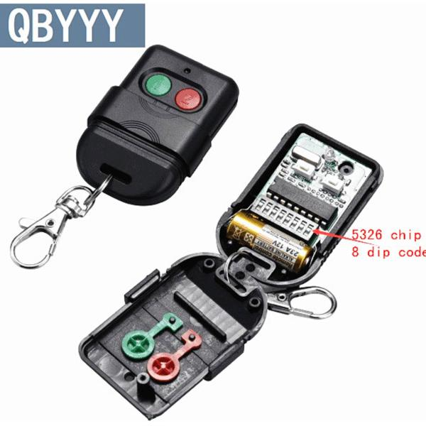 5pcs Singapore malaysia 5326 433mhz dip switch auto gate duplicate remote control key fob - intl