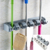 Review 5Pcs Wall Mounted Mop Brush Broom Organizer Holder Storage 3 Rack Intl Oem On China