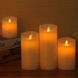 Shop For 5Pcs Lot Flameless Led Electronic Candle Made By Real Wax With Ficker Light For Party Festival Light Decoration 10 Keys Remote Control Intl