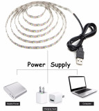5V Usb Cable Power Led Strip Light Lamp Bulb Smd 3528 Christmas Desk Decor Lamp Tape For Tv Background Lighting 350Cm Pure White Intl Cheap
