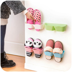 5X Shoes Rack Plastic Shelf Holder Hanger Bathroom Wall Storage Organizer Shelving Intl Free Shipping