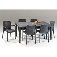 6 Bali Chairs and Melody Table Set