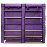 Price 6 Layer Double Row Covered Shoes Rack Storage Shelf Organizer Cabinet Closet Oem