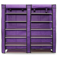 Price 6 Layer Double Row Covered Shoes Rack Storage Shelf Organizer Cabinet Closet Oem Original
