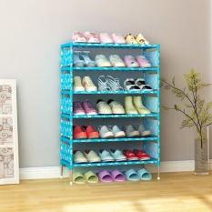 6 Layer Dustproof Non-woven Shoe Rack Shoe Cabinet Shoes Organizer Stand Shelf 57.5*26*97.5cm