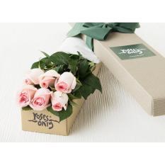 6 Pastel Pink Roses Gift Box