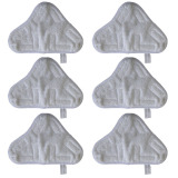 Price 6 Piece Set Of Microfibre Steam Mop Floor Washable Replacement Pads For H2O H20 X5 White On China