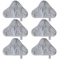 Best Rated 6 Piece Set Of Microfibre Steam Mop Floor Washable Replacement Pads For H2O H20 X5 White