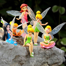 6 Pieces/set Flower Pixie Fairy Miniature Figurine Dollhouse Garden Ornament Decoration Crafts Figurines By Leo & Amanda.
