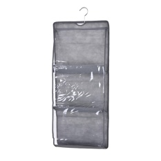 6 Pocket Hanging Handbag Purse Bag Tidy Organiser Storage Wardrobe Closet Hanger Grey - intl