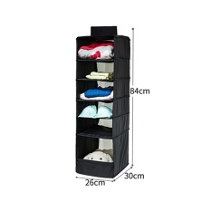 Top Rated 6 Section Shelves Hanging Wardrobe Shoe Garment Organiser Storage Clothes Intl