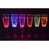How To Get 6 Set Led Light Wine Flute Light Up Liquid Activated Champagne Glasses For Wedding New Yearparty Flute Multicolor