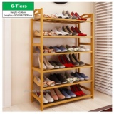 Compare Prices For 6 Tiers Bamboo Bamboo Shoes Storage Rack Shoe Organizer High Heel Boot Storage Shoes Cabinet Multi Purpose Rack