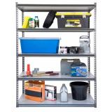 Where To Buy Hammersmart 605 Xl Heavy Duty Storage Rack 5 Grey Melamine Shelves Include Installation