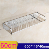 Sale 60Cm Single Tier Rectangle Bath Kitchen Rack Bathroom Shelf Space Storage For Kitchen Bathroom Stainless Steel Wall Mounted Storage Shelf Oem