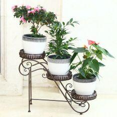 For Sale 66 24 50Cm Big Size European Balcony Fower Pots Shelf Garden Flower Stands Holder Flower Pergolas Metal Iron Flower Shelf