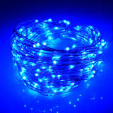 Best Deal 66Ft 20M 200 Leds Outdoor Christmas Fairy Lights Warm White Silver Wire Led Starry Light String Lights Adapter Blue