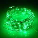 Best 66Ft 20M 200 Leds Outdoor Christmas Fairy Lights Warm White Silver Wire Led Starry Light String Lights Adapter Green