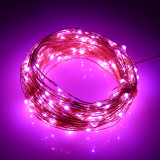 Sale 66Ft Battery Led String Light 20M 200Led 6Pcsaa Battery Operate Led Light Outdoor Decoration Light Home With 5 Modes Pink On China