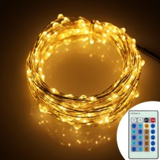 Price 6M 120Leds Remote Control Fairy Starry Decor String Lights Uk Plug Intl Er Chen New