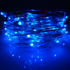 Price 6M 60Leds Waterproof Led Battery Powered String Lights Silver Wire 8 Modes Led Starry Light Fairy Lights With Remote Controller Blue Er Chen Online