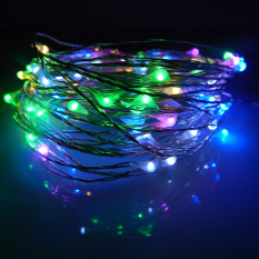 Buying 6M 60Leds Waterproof Led Battery Powered String Lights Silver Wire 8 Modes Led Starry Light Fairy Lights With Remote Controller Multicolor