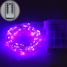 Where To Buy 6M 60Leds Waterproof Led Battery Powered String Lights Silver Wire 8 Modes Led Starry Light Fairy Lights With Remote Controller Purple