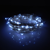 Retail 6M 60Leds Waterproof Led Battery Powered String Lights Silver Wire 8 Modes Led Starry Light Fairy Lights With Remote Controller White