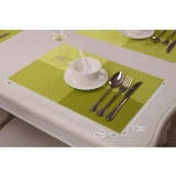 6Pc Placemats Coasters Waterproof Insulation Mat Kitchen Dining Table Green Cheap