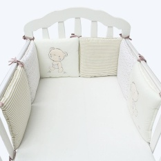 Discount 6Pcs Baby Infant Cot Crib Bumper Safety Protector Toddler Nursery Bedding Set Intl