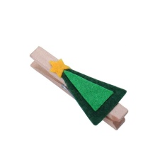 6pcs Decoration Clip Christmas Tree Wood Clamp - Intl By Crystalawaking.