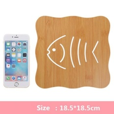 Buying 6Pcs Ezlife Hollow Wooden Coasters Kitchen And Thicken The Heat Eat Mat Antiskid Pot Pad Bowl Plate Type C01 18 5 18 5Cm Intl