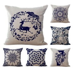 6PCS Geometric Pattern Home Decor Cushion Pillowcase Chair Sofa Decor Throw Pillow Cover - intl