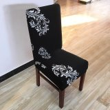 How To Buy 6Pcs Printing Flower Spandex Stretch Dining Chair Cover Restaurant For Weddings Banquet Folding Hotel Chair Covering Intl