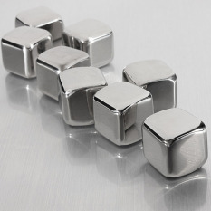 For Sale 6Pcs Stainless Steel Whisky Stones Cube Glacier Whiskey Rocks