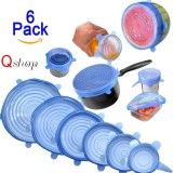 The Cheapest 【6Pcs】Q Shop Universal Silicone Saran Wrap Food Bowl Pot Lid Multi Size Reusable Containers Covers For Pots Cans Bowls Mugs And Mason Jars Preserve Food Dishwasher And Freezer Safe Intl Online