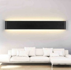 Retail 6W 24Cm Aluminum Led Wall Lamp Bedside Hallway Bathroom Mirror Light Black Shell Warm White Light Intl