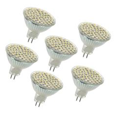 6x G GU GX5 3 MR16 3528 SMD 60 LED Spot Lamp Light LAMP BULB 4W 12V WHITE Singapore