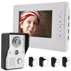 7 Inch One To One Video Door Phone Doorbell Intercom 1 Camera 1 Monitor Night Vision Eu Plug Intl Reviews