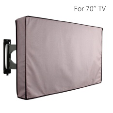 70 inch Khaki Waterproof Television Cover Outdoor TV Covers Protector Bag Case - intl