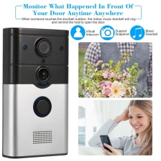 Review 720P Wireless Doorbell Support Phone View Record Snapshot Infrared Night View Rainproof Pir Motion Detection Tamper Alarm For Door Entry Access Control Intl China