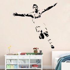 Price 75 X 55Cm Removable Pvc Art Mural Football Cristiano Ronaldo Wall Stickers For Kids And Children Room Decor Intl Online China