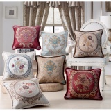 Price Comparisons 7Pc Home Fashion Embroidery Cotton Linen Square Throw Pillow Case Decorative Cushion Cover Pillowcase For Sofa 18 X 18 Intl