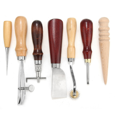 Price Comparisons For 7Pcs Leather Stamp Craft Punch Hole Tools Kit Stitching Carving Sewing Groover H Intl